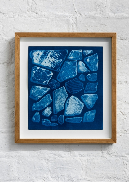 """Fragments"" Cyanotype on paper, 26.5x24cm"