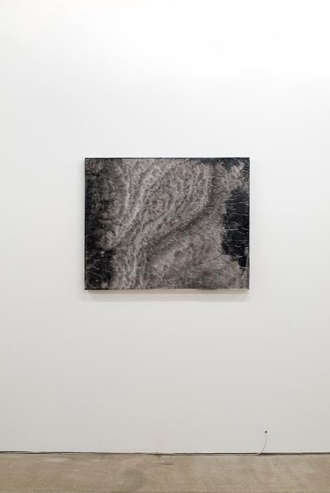 Liam Tickner, Dark Tide, 2017, 100x80x5cm, Resin, laser print, pigment, canvas